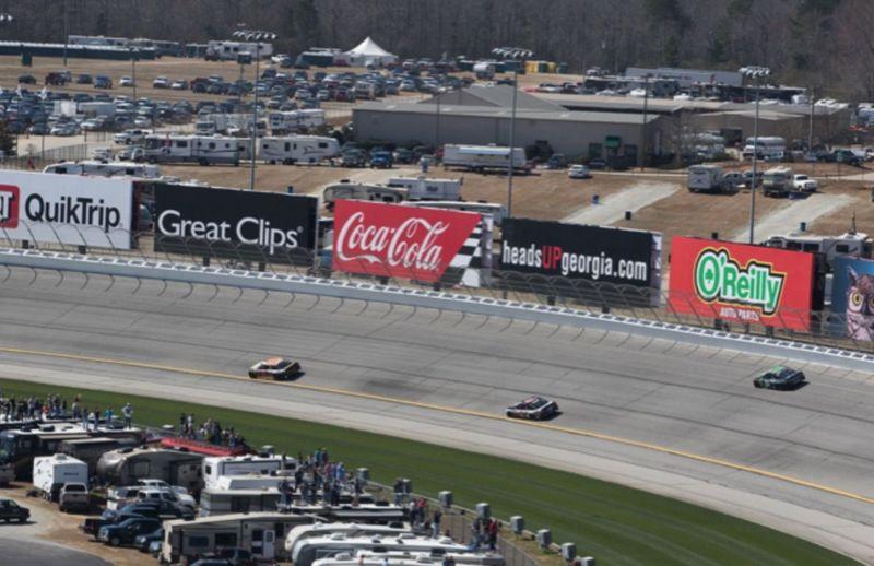 Track Signage Info Atlanta Motor Speedway