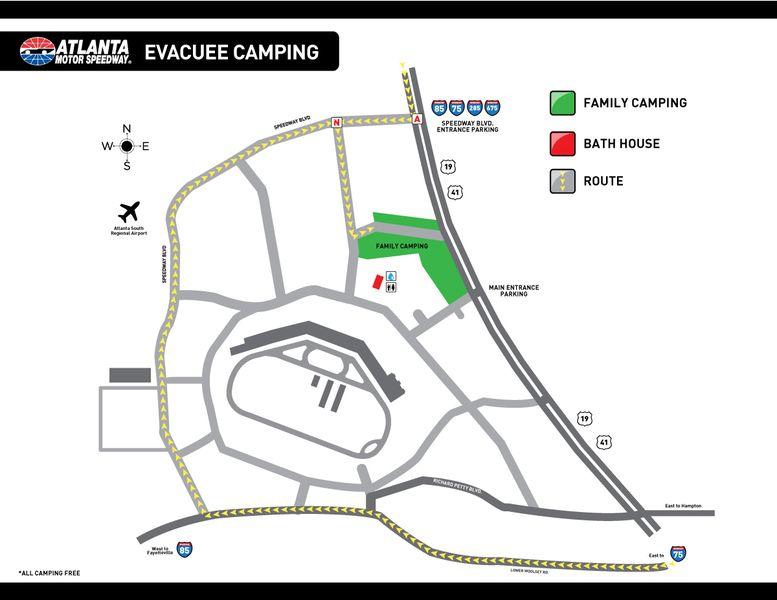 Atlanta Motor Speedway Opens Camping Facilities For
