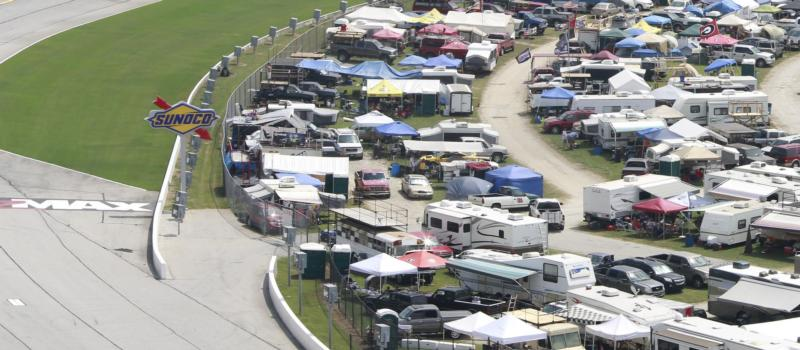 infield tent camping
