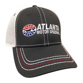 Atlanta Motor Speedway Adult Charcoal Mesh Flex Fit Hat